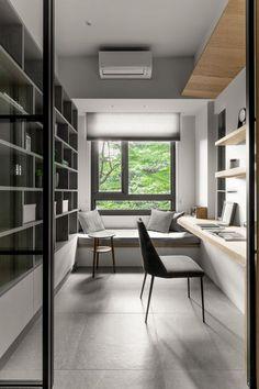 Study Room Design, Study Room Decor, Home Room Design, Small Home Interior Design, Modern Home Offices, Small Home Offices, Small Office, Home Office Setup, Home Office Space