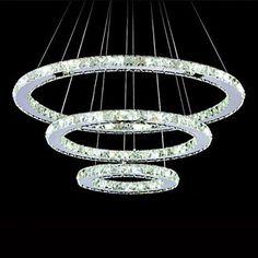 550.56$  Buy now - http://alir58.worldwells.pw/go.php?t=32315787276 - 80CM LED Modern Crystal Pendant Lamp Lighting Fixtures,Lampara Lustre De Cristal Sala Teto E Pendentes Luz
