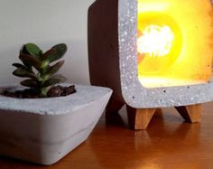 """Items similar to Concrete Lamp """"Extrude Desk"""" lamp. on Etsy"""