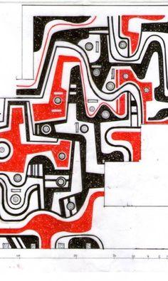 Desenho para piso feito por Haruyoshi Ono para um edifício na Cidade Nova. Aos 71 anos, ele está à frnete de grandes projetos de paisagismo, como o do Museu da Imegem e do Som e o do Museu do Amanahã. Seus traços carregam o estilo de Burle Marx Divulgação