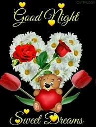 Good Night Image With Teddy bear and red rose New Good Night Images, Romantic Good Night Image, Beautiful Good Night Images, Cute Good Night, Good Night Gif, Good Night Sweet Dreams, Good Night Moon, Good Night Quotes, Sweet Night