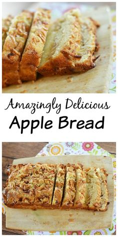 Delicious Homemade Apple Bread Delicious Homemade Apple Bread - It's dense, it's delicious and it's pretty easy to put together!Delicious Homemade Apple Bread - It's dense, it's delicious and it's pretty easy to put together! Mini Desserts, Easy Desserts, Delicious Desserts, Yummy Food, Health Desserts, Healthy Apple Desserts, Quick Dessert Recipes, Sweet Recipes, Oreo Dessert
