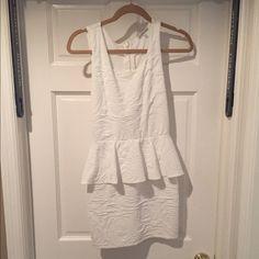 White peplum dress White peplum zip up dress. Worn once Charlotte Russe Dresses Mini