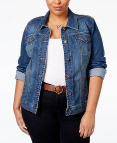 Style & Co. Plus Size Denim Jacket, Only at Macy's #macys #plussizeclothing
