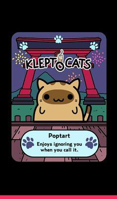 Got a new cat on my new fun app called Kleptocats!!