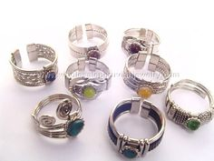 Assorted Stone and Glass Rings. Click the link to purchase our unique handmade Peruvian jewelry at awesome wholesale prices (includes shipping & insurance!)  Make money with your own online or offline business selling Peruvian Jewelry or save big on beautiful gifts for yourself or that special someone! Click here:  http://www.wholesaleperuvianjewelry.com/