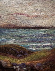 'Ocean', needle felting.