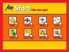 kleuterspel op kleuteridee.nl Line Game, Play To Learn, Ipad, Android, Comics, Learning, School, Studying, Teaching
