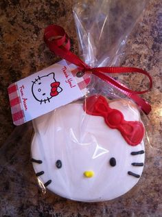 Gluten dairy and nut free Hello Kitty custom by PudgePudgeCupcakes, $27.00