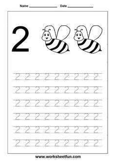 Number 2 Preschool Printables Free Worksheets and Free Printable Numbers, Printable Preschool Worksheets, Number Worksheets, Tracing Worksheets, Worksheets For Kids, Kindergarten Worksheets, Preschool Kindergarten, Animal Worksheets, Free Preschool