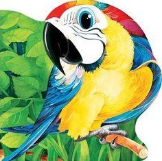 - Papagalul - Parrot, Disney Characters, Fictional Characters, Presents, Children Books, Bird, Animals, Tejidos, Parrot Bird