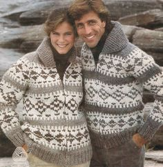 Knit Siwash Sweater Pattern, Cardigan, Pullover and Bomber Jackets, White Buffalo Book 2 from MagpieQuilts on Etsy Studio Cowichan Sweater, Wool Cardigan, Zip Sweater, Wool Sweaters, Men Cardigan, Sweater Knitting Patterns, Cardigan Pattern, Knit Patterns, Knitting Designs