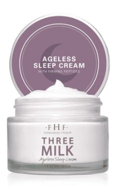 93% NATURAL | VEGAN | GLUTEN-FREE | NUT-FREE Our #1 selling face cream will now transform your night! This wonder milk is uniquely rich and intensely hydrating, with a time-release delivery system of pure form retinol. Many retinol products cause redness and irritation. Not Three Milk Ageless Night Cream! The slow-release system ensures it delivers softness, illumination, firmness and more - without the side effects normally associated with pure form retinol.The texture of this cream is so thick Ageless Cream, Retinol Products, Nut Free, Side Effects, Moisturizer, Milk, Gluten Free, Delivery, Vegan