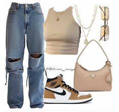 Baddie Outfits Casual, Cute Swag Outfits, Cute Comfy Outfits, Indie Outfits, Teen Fashion Outfits, Retro Outfits, Stylish Outfits, Polyvore Outfits Casual, Summer Swag Outfits