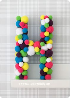 Pom pom letter - by Craft & Creativity