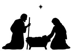 christmas nativity silhouette