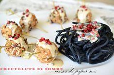 Chiftelute de somon cu sos de piper roz - Retete culinare by Teo's Kitchen