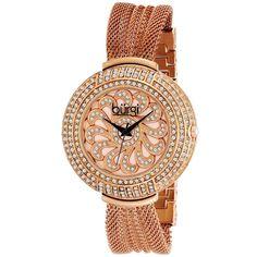 Burgi Ladies' Crystal Mesh Bracelet Watch In Rose Gold - gorgeous