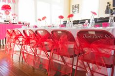 American Girl, 5th Birthday Birthday Party Ideas | Photo 1 of 22 | Catch My Party Doll Parti, Chair, Birthday Parties, 5Th Birthday, Bow, Parti Idea, Flower, Birthday Birthday, American Girl Birthday