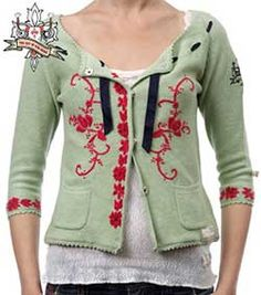 Odd Molly Handmade Reverse Embroidered Cardigan $148