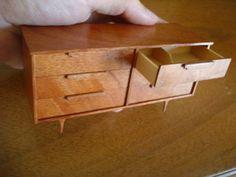 Dollhouse Miniature Mid Century Modern Dresser Artisan   eBay                                                                                                                                                                                 More