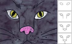 Art Projects for Kids: Black Cat Face