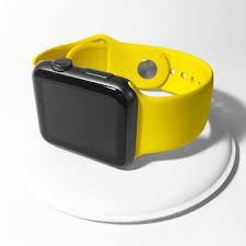Resultado de imagem para apple watch space gray yellow sport band Apple Watch Space Grey, Apple Picture, Grey Yellow, Watches, Sport, Google, Bands, Deporte, Wristwatches