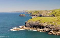 View along the coast towards Boscastle from Tintagel Castle