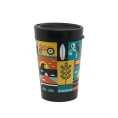 Kiwiana Cuppa Coffee Cup by Greg Straight - Museums Wellington Take Away Coffee Cup, Take Away Cup, Coffee Cups, Reuse Recycle, Recycling, Car Museum, Kiwiana, Cup Design, Museums