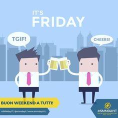 E anche questa #settimana è arrivato! #TGIF! Pronti per il #weekend ?  Quali sono i vostri programmi? #SMMdayIT #community #relax #smm #socialmedia #socialpeople #socialcose #socialteam #stayconnected