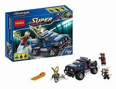 Super Heroes Loki Hawkeye Iron Man Minifigure with Truck Lokis Cosmic Cube Escape Compitable with Le @ niftywarehouse.com #NiftyWarehouse #IronMan #Iron-man #Marvel #Avengers #TheAvengers #ComicBooks #Movies