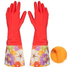 Rubber Latex Dish Washing Cleaning Long Warm Gloves Household Kitchen Car Quality first #>=#>=#>=#>=#> Click on the pin to check out discount price, color, size, shipping, etc. Save and like it!
