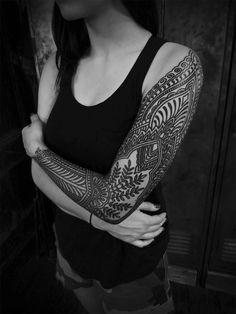 Ornamental tattoo By  Guy le Tattooer