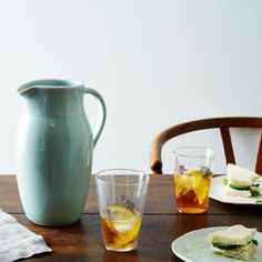 Handmade Porcelain Pitcher: Out of the clear blue. #food52