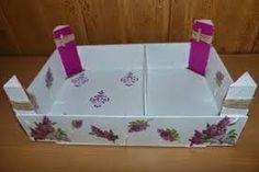 Resultado de imagen de manualidades para cocina con cajas de fresas utilidades