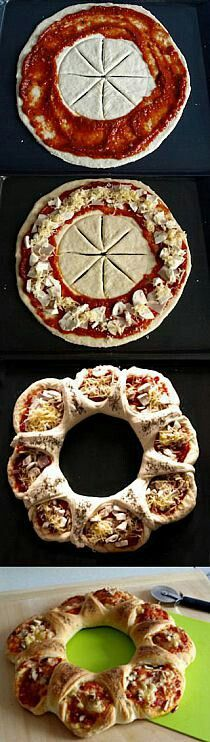Pizza Korona – Ilaria Cartelli - All Recipes I Love Food, Good Food, Yummy Food, Pizza Recipes, Cooking Recipes, Bread Shaping, Pizza And More, Snacks Für Party, Creative Food