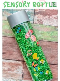 This Look and Find Spring Sensory Bottle is fun & easy to make and creates a fun, sensory, tactile experience. Can also be designed as a game for all ages. Sensory Bottles For Toddlers, Sensory Bags, Sensory Table, Baby Sensory, Sensory Play, Sensory Rooms, Spring Activities, Sensory Activities, Infant Activities