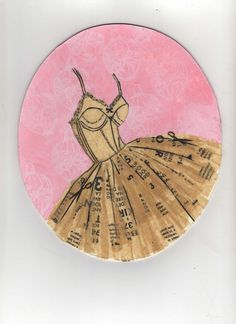 "Dress pattern collage print ""Lou Ann"""