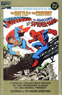 The Amazing Spider-Man Treasury Edition (Jan Marvel & DC) Superman And Spiderman, Superman Man Of Steel, Amazing Spiderman, Marvel Comics Superheroes, Marvel E Dc, Marvel Heroes, Dc Comic Books, Comic Book Covers, Comic Art