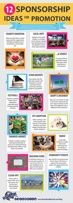 12 Sponsorship Ideas for Promotion [Infographic]