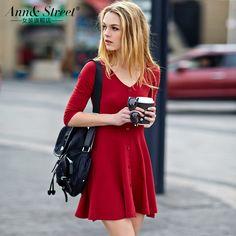 Livraison gratuite  été, coton base 100% street fashion trois quart manchon v- cou, minces. élastiques, un- robe pièce femelle, tp266