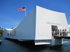 USS Arizona Memorial - Marks the resting place of 1,102 of the 1,177 sailors and Marines killed on USS Arizona (BB-39) during the Japanese surprise attack on Pearl Harbor on 7 December 1941 and commemorates the events of that day. The attack on Pearl Harbor and the island of O?ahu was the action that led to the United States' direct involvement in World War II.