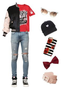 """""""it's called uh, no boys allowed"""" by disabledpaladin on Polyvore featuring RtA, Moschino, New Look and Gucci"""