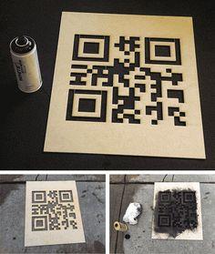 QR Hobo Codes: Secret-Symbol Stencils for Digital Nomads