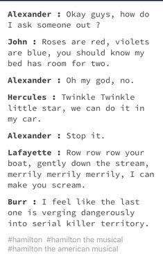 Hamilton pick up lines Alexander Hamilton, Percy Jackson, Nos4a2, Hamilton Musical, Marriage Humor, Harry Potter, Fandoms, Lin Manuel, Pick Up Lines