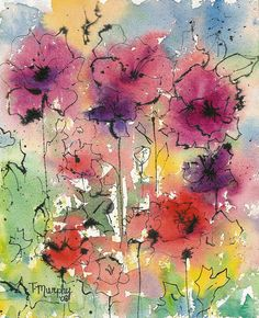 Watercolor and Ink - Tracee Murphy :: Inspiration Pen And Watercolor, Abstract Watercolor, Watercolour Painting, Watercolor Flowers, Painting & Drawing, Watercolors, Watercolor Portraits, Watercolor Landscape, Abstract Paintings
