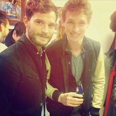 andrew garfield, eddie redmayne and jamie dornan are all BFF's and used to live together. amazing