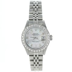 - Brand: Rolex - Style Number: 6916 - Series: Datejust - Gender: Ladies - Condition: Certified Pre-Owned with Box & Booklets - Case Material: Stainless Steel - Case Diameter: 26mm - Dial Color/Diamond
