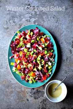 Blood Orange Avocado & Chicory Winter Chopped Salad @foodtoglow | Full of all things good for your body and delicious!