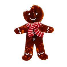 Erstwilder - Ginger The Christmas Cookie Brooch - 1